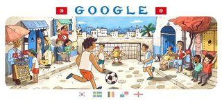 グーグルのワールドカップ・チュニジア.JPG